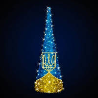 """Ёлка конусная светодиодная  """"Украина модерн"""", 3.0х1.0м"""