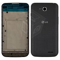 Корпус для LG Optimus L90 Dual SIM D410, черный, оригинал