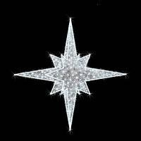"Верхушка для ёлок светодиодная ""Премиум"", белая, 1.5х1.5м, 134 Вт"
