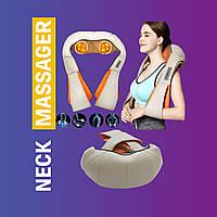 Универсальный роликовый массажёр Massager of neck kneading с подогревом для шеи и плеч 12V, 24W PS