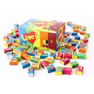 Жуйки Love is Асорті 50 шт в оригінальній упаковці