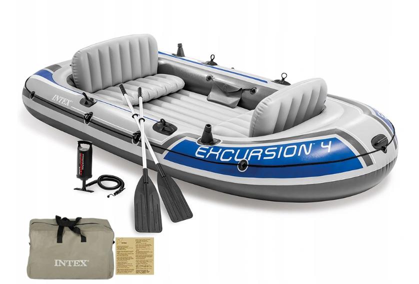 Надувная лодка Intex Excursion 4 четырехместная
