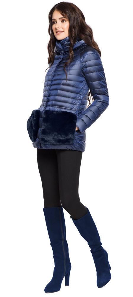 Сапфировая осенне-весенняя женская куртка модель 15115