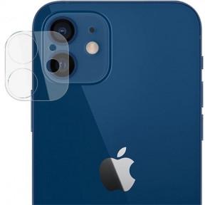 Безпечне захисне скло камери для Apple iPhone 12 mini, 2.5 D, прозоре