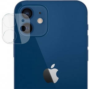 Безпечне захисне скло камери для Apple iPhone 12 mini, 2.5 D, прозоре, фото 2
