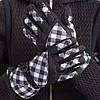 Перчатки горнолыжные женские универсальные ZELART Для сноуборда и лыж теплые Черно-белый (B-120) M-L