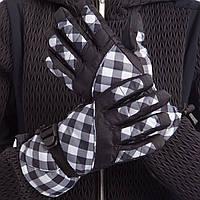 Перчатки горнолыжные женские универсальные ZELART Для сноуборда и лыж теплые Черно-белый (B-120) M-L, фото 1