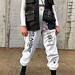 Жіночі спортивні штани, турецька трехнить на хутрі, р-р 42-44; 44-46 (чорний), фото 2