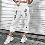 Жіночі спортивні штани, турецька трехнить на хутрі, р-р 42-44; 44-46 (чорний), фото 3