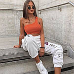 Жіночі спортивні штани, турецька трехнить на хутрі, р-р 42-44; 44-46 (чорний), фото 4