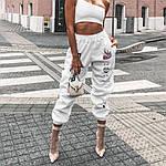 Жіночі спортивні штани, турецька трехнить на хутрі, р-р 42-44; 44-46 (чорний), фото 5