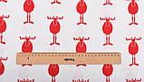Новорічний набір відрізів тканини для рукоділля з різними орнаментами - 9 відрізів 40*50 см, фото 6