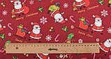 Новорічний набір відрізів тканини для рукоділля з різними орнаментами - 9 відрізів 40*50 см, фото 3