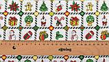 Новорічний набір відрізів тканини для рукоділля з різними орнаментами - 9 відрізів 40*50 см, фото 10