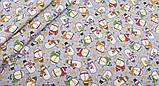 Новорічний набір відрізів тканини для рукоділля з різними орнаментами - 9 відрізів 40*50 см, фото 4