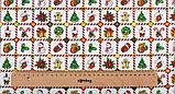 Новорічний набір відрізів тканини для рукоділля з різними орнаментами - 9 відрізів 40*50 см, фото 8