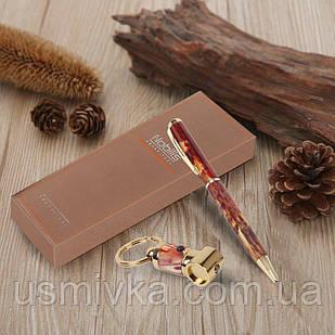 Набор для подарка шариковая ручка, брелок с фонариком 395514