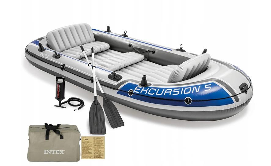 Надувная лодка Intex Excursion 5 пятиместная