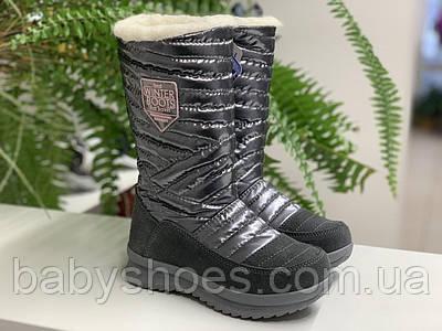 Детские зимние ботинки для девочки Krokky (Словения) чёрные мембрана р.31-37, мод.82109