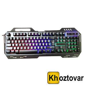 Дротова клавіатура з підсвічуванням Keyboard GK-900 | 104 клавіші