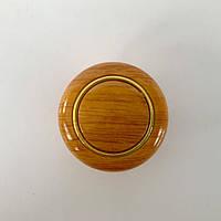 Мебельная ручка 1038 кнопка вишня