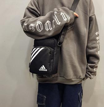 Спортивная сумка мессенджер Adidas. Сумка через плечо для документов