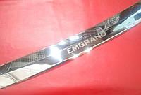 Накладка на задній бампер з загином Geely Emgrand EC7
