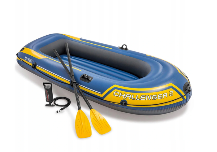 Надувная лодка Intex Challenger 2 двухместная