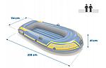Надувная лодка Intex Challenger 2 двухместная, фото 3
