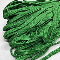 Шнурок 20x20 плоский полуэластичный 15 мм цвет травы