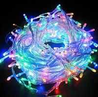 Новогоднее украшение: светодиодная гирлянда, 100 ЛЕД, разные виды подсветки