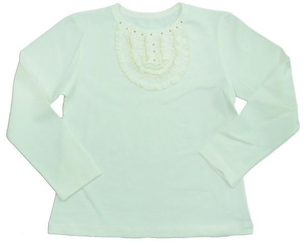 """Блуза для девочки """"Жабо"""", рост 116, цвет молочный"""