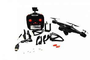 Квадрокоптер 1million c WiFi камерою Чорний, фото 2