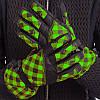 Перчатки горнолыжные женские универсальные ZELART Для сноуборда и лыж теплые Черный-салатовый (B-120) M-L