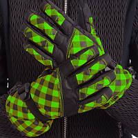 Перчатки горнолыжные женские универсальные ZELART Для сноуборда и лыж теплые Черный-салатовый (B-120) M-L, фото 1