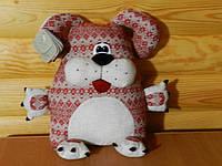 Іграшка-подушка лляна ручної роботи Собака