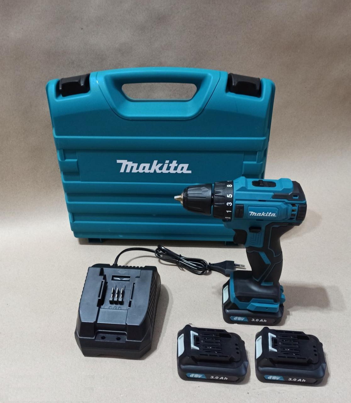 🔹3 батареи 18V/3A Li-ion  🔹Шуруповерт Makita DF 332 brushless (бесщеточный двигатель)