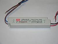 Блок питания 12V, 18W, IP67 Mean Well герметичный