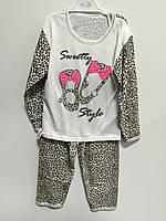 Пижама для девочки с туфельками р. 28,30,32