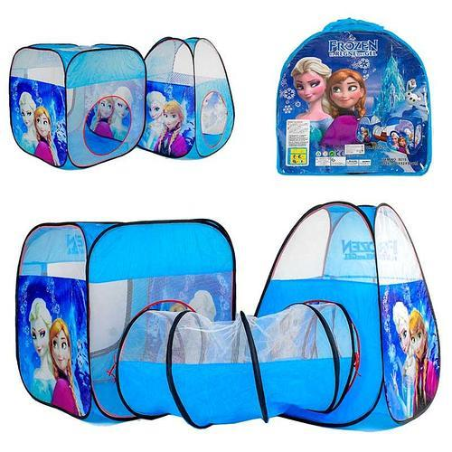 Дитячий ігровий намет-будиночок з тунелем для дівчинки Frozen 8015 FZ-B Фрозен, розмір 270*92*92 см