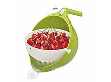 Кухонні миска - друшляк Mesh strainer Зелена