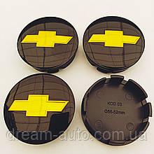 Ковпачки в диски Chevrolet 52-56 мм чорні