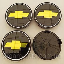 Ковпачки в диски Chevrolet 65-68 мм чорні