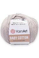 Yarnart Baby Cotton(бебі коттон) - 406 світло сірий