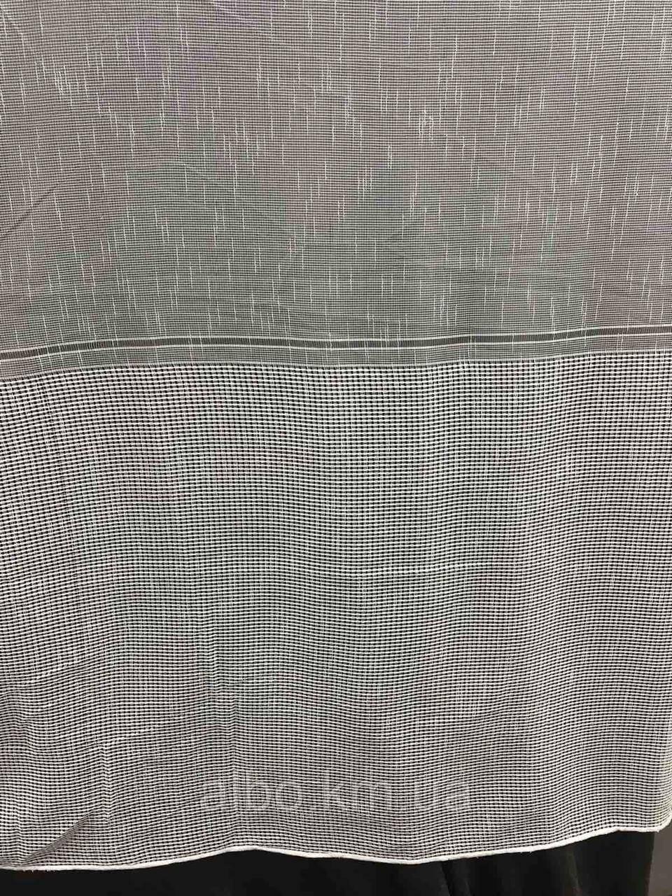 Гарний тюль з льону кремового кольору на метраж, висота 2.8 м (330-1)