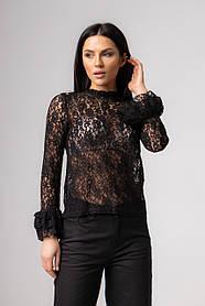 Ажурная блуза с рукавами  в 3 расцветках в размерах S/M и M/L.