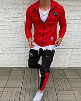 Спортивный костюм NIKE CHICAGO BULLS мужской яркий красный весна лето модная одежда