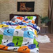 """Двуспальный комплект (Бязь)   Постельное белье от производителя """"Королева Ночи""""   Коты на разноцветном, фото 2"""