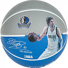 М'яч баскетбольний Spalding NBA Player Dirk Nowitzki Size 7