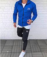 Спортивный костюм мужской UNDER ARMOUR андер армор синего цвета мужская одежда весна лето осень
